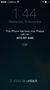 Lost iPhone 5S