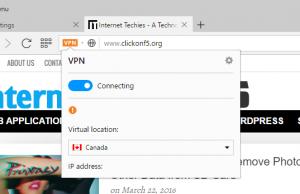 Free VPN in Opera